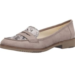 Anne Klein Henna Fabric Moccasin Loafers Sz 8.5